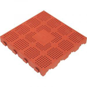 Plastová dlažba 400x400x48 mm, červená