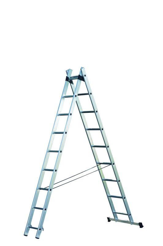 Hliníkový výsuvný žebřík hobby 2x9 příček Facal