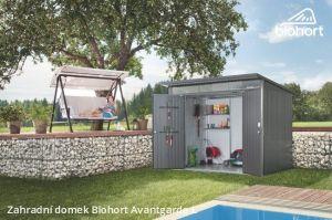 Zahradní domek A2 - 180x260 cm, dvoukřídlé dveře