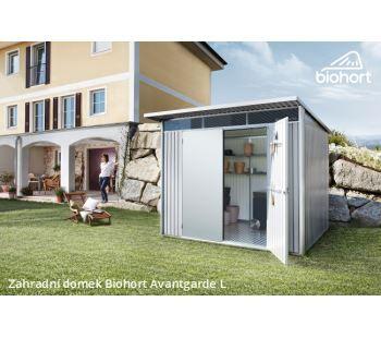 Zahradní domek A4 - 180x380 cm, dvoukřídlé dveře