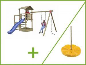Dětské hřiště se skluzavkou ANIA PREMIUM 3600x2570x3030 mm + houpačka květinka