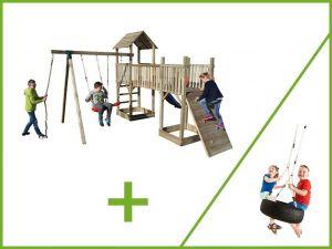 Dětské hřiště se skluzavkou Palác zábav 2 věže + houpačka PNUE