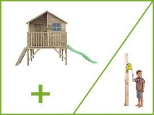 Dětský zahradní domek JIŘÍK + zvon