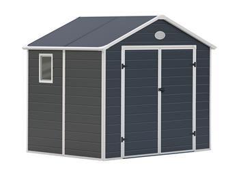Zahradní domek na nářadí G21 PAH 458 - 241x190 cm plast šedý