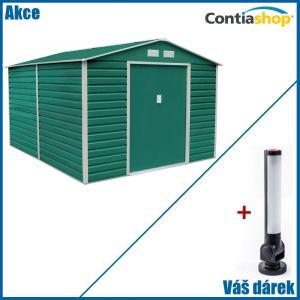 Zahradní domek na nářadí G21 GAH 1085 3,4 x 3,19 m s magnetickou LED lampou zdarma - hnědý