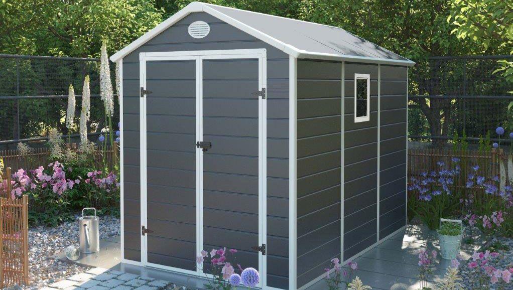 Zahradní domek na nářadí G21 PAH 523 - 188x278 cm plast šedý