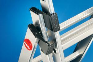Třídílný hliníkový žebřík profi 3x11 příček Hailo