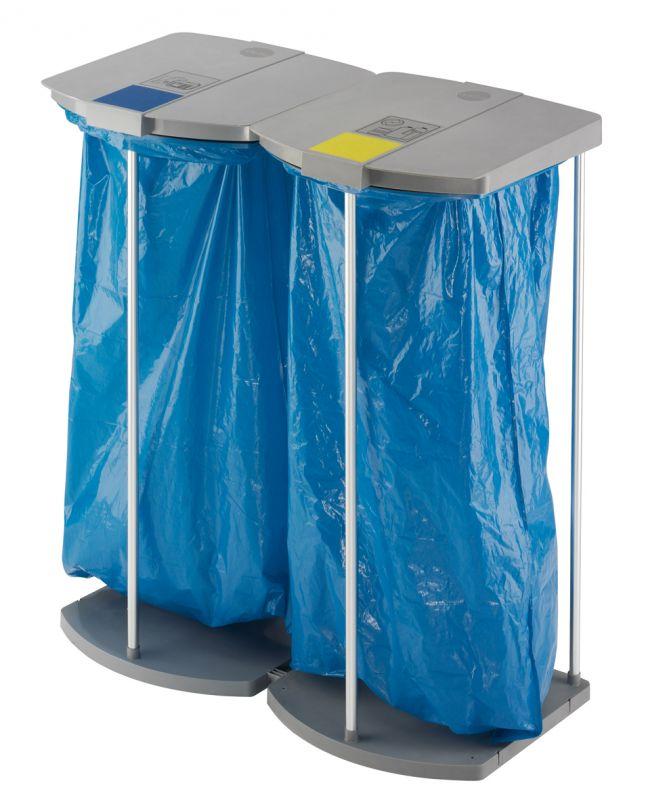 Stojan na odpadkové pytle Hailo ProfiLine WS 2x120 bez koleček