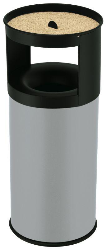 Venkovní odpadkový koš samozhášecí Hailo s popelníkem ProfiLine Care 40 litrů