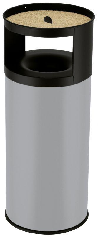 Venkovní odpadkový koš samozhášecí s popelníkem Hailo ProfiLine Care 75 litrů