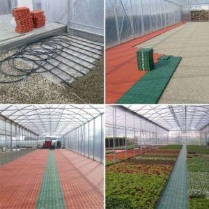 Plastové panely rohové zelené