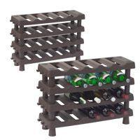2 přídavné police pro regál na víno