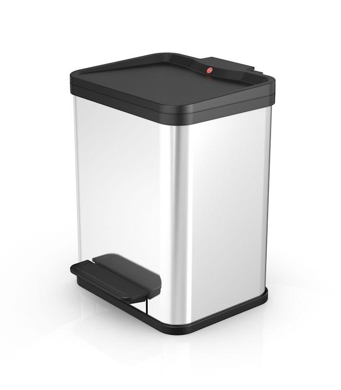 Koš na tříděný odpad Hailo Öko duo Plus M 2x9 litrů nerez