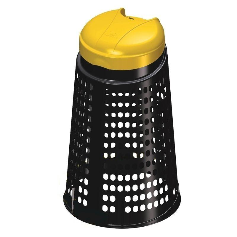 Stojan na odpadkové pytle bez pedálu 110 litrů- žlutý