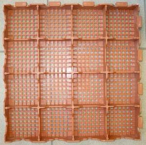 Plastová dlažba Combi line 400x400x48 mm, červená