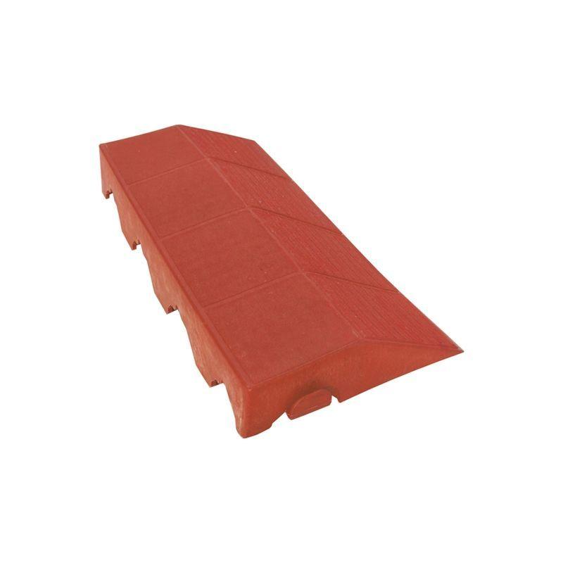 Plastový panel boční s otvorem - červený