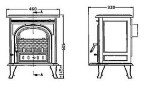 Litinová krbová kamna Igotherm GORI - 7 kW