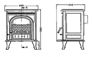 Litinová krbová kamna Igotherm TUMBA - 5 kW