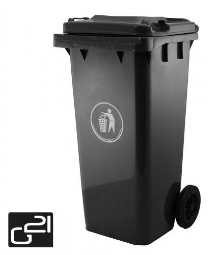 Popelnice plastová 120 litrů černá