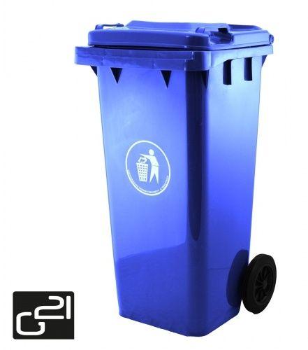 Popelnice plastová 120 litrů modrá