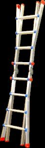 Teleskopický žebřík profi 4x4 příčky