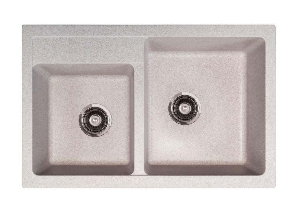 Kuchyňský dřez Metalac granitový - XQuadro plus 2D