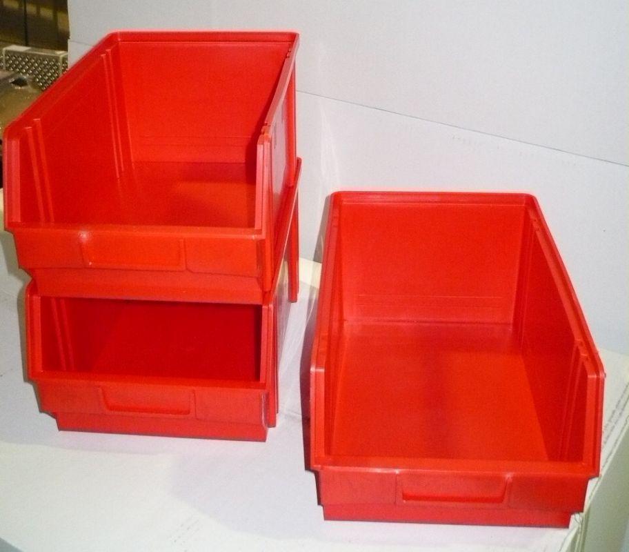 Plastový box na šroubky 105 - červený min. odběr 12 ks