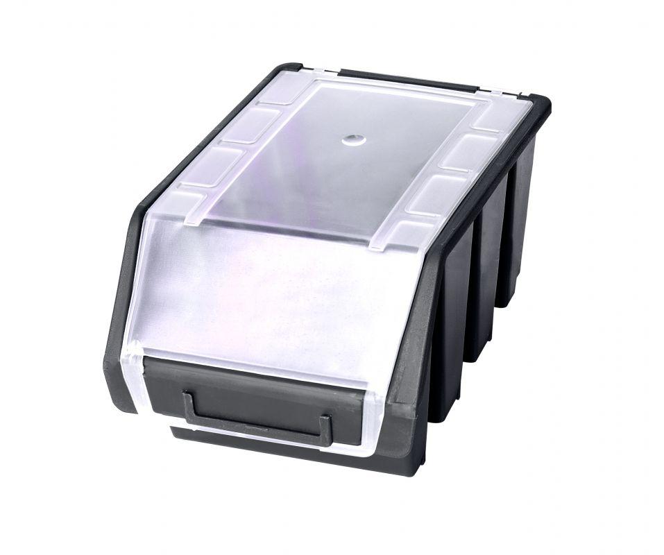 Plastový box na šroubky ERGOBOX 3 - intermediate - černý s víkem
