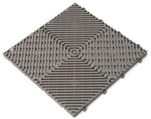 Interiérová plastová rohož ROMBO děrovaná šedá
