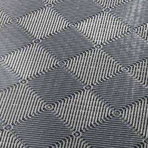 Interiérová plastová rohož ROMBO děrovaná šedá 385x385 mm