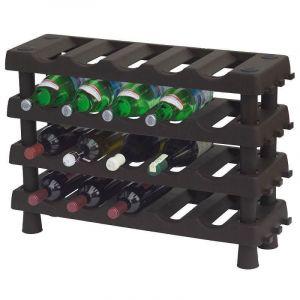 Plastový regál na víno 4 police
