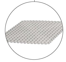 Interierová plastová rohož Tenax white bubble