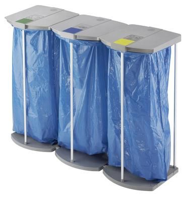Stojan na odpadkové pytle Hailo ProfiLine WS 3x120 litrů bez koleček