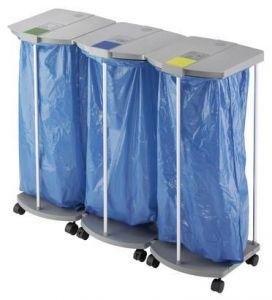Stojan na odpadkové pytle Hailo ProfiLine WS 3x120 litrů vč.koleček