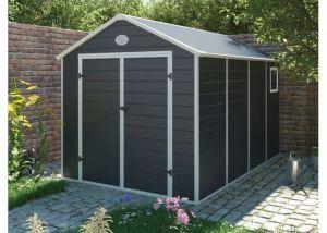 Zahradní domek na nářadí G21 PAH 882 - 241x366 cm plast šedý - tmavě šedý