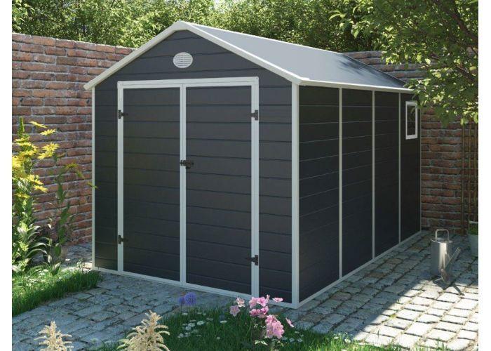 Zahradní domek na nářadí G21 PAH 882 - 241x366 cm plast šedý