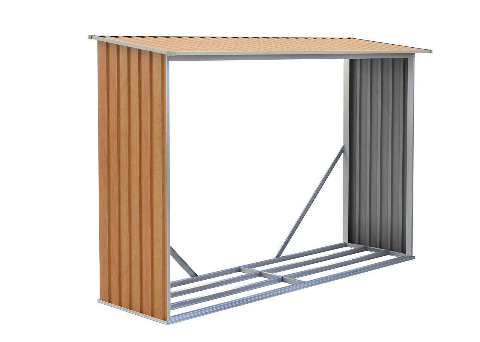 Zahradní přístřešek na dřevo WOH 181 - hnědý
