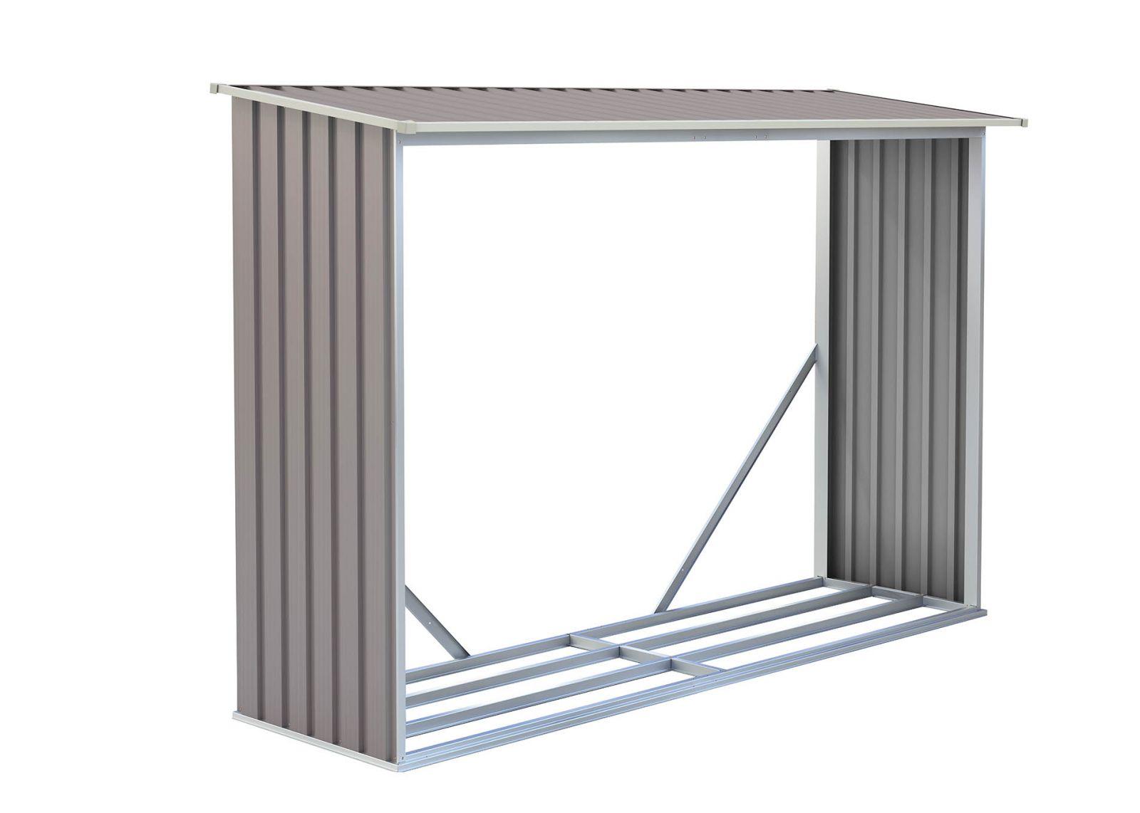 Zahradní přístřešek na dřevo WOH 181 - šedý